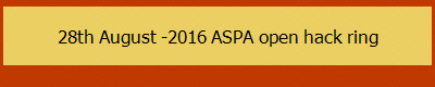 28th August -2016 ASPA open hack ring