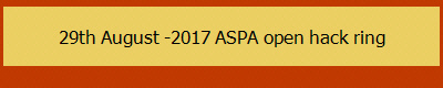29th August -2017 ASPA open hack ring